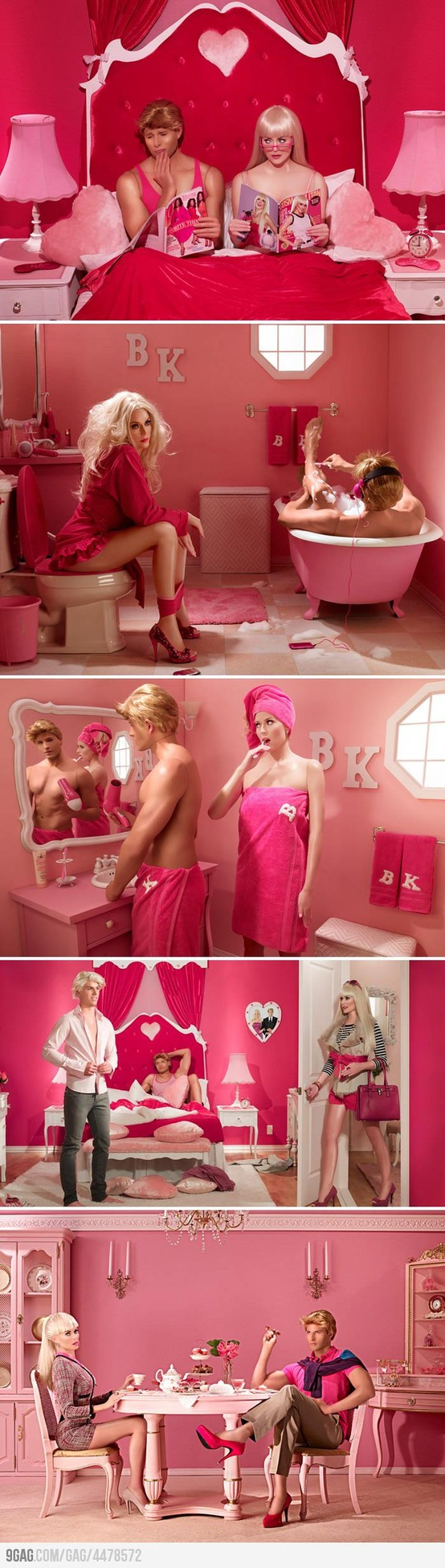 Barbie and Ken's marriage in real life...