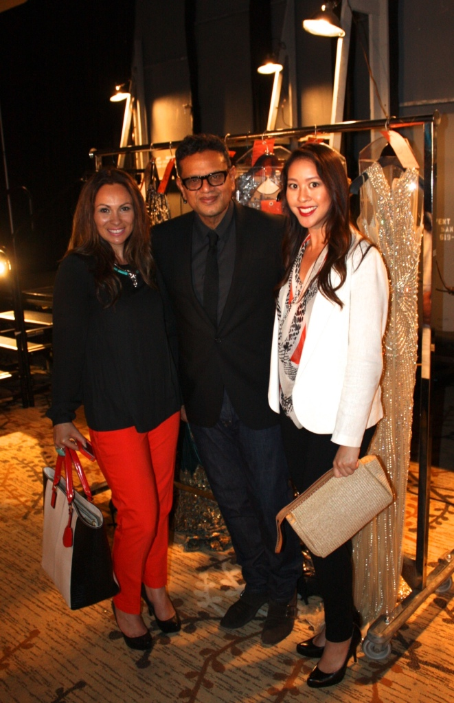Designer Naeem Khan, myself and my colleague at the Celebrating Couture 2013 San Diego