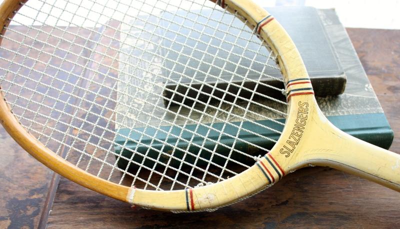 wooden racket tennis