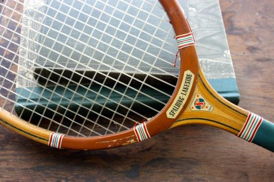 vintage Spalding tennis racket