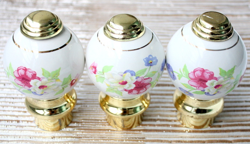 Vintage Ceramic Door Knobs