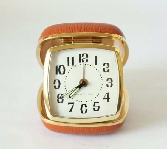 Vintage Westclox Travel Alarm Clock Model 42028