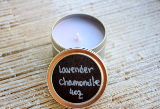 Lavender Chamomile Homemade Soy Candle Tin