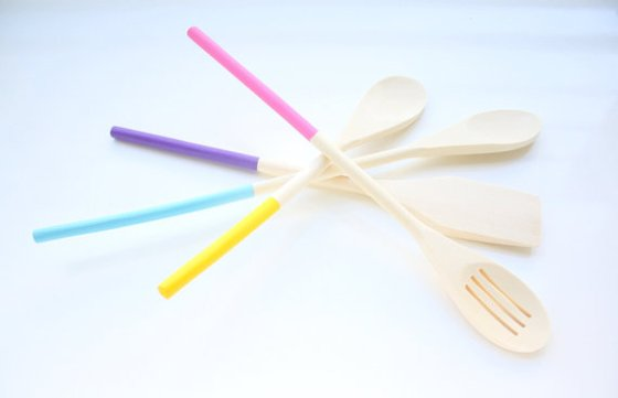 Multi Color Wooden Spoons