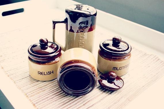 Vintage 1970s Condiment Jars Se