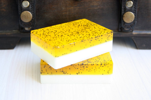 Lemon Poppy Exfoliator Goat's Milk Glycerin Bar Of Soap
