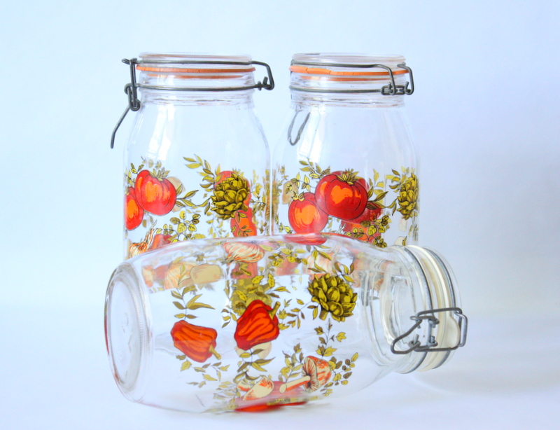 Vintage French Canning Jars Arcoroc France Spice of Life