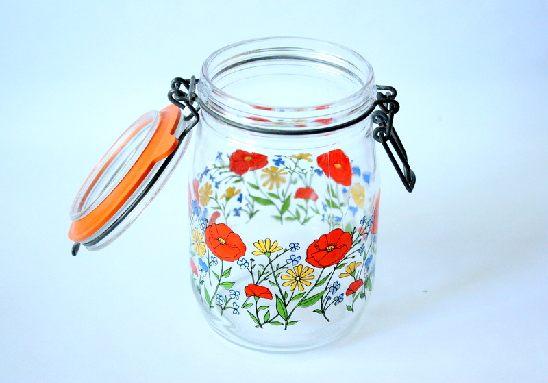 Vintage French 1L Canning Jar From Arcoroc France